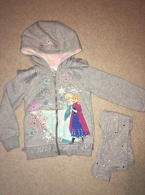 Disney Store Frozen zip up hoody With Crystals Sequins Sparkles age 3 years