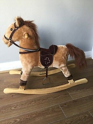 rocking horse exc cond neighs gallops sounds and tail and mouth moves