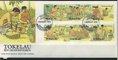Tokelau Islands 1990 Mens' Handicraft Making First Day  Cover - Unaddressed