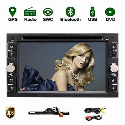 6.2'' Double 2Din Android 6.0 Car DVD Player Radio Stereo GPS Wifi 4G OBD2+Cam