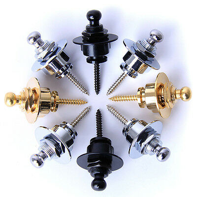 Guitar Strap Locks: Locking Buttons for Electric/Semi/Acoustic/Bass Zinc Alloy