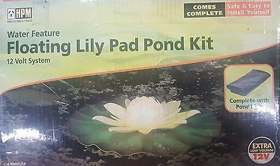 HPM Floating Lily Pad Pond Kit Water Feature 12 Volt System