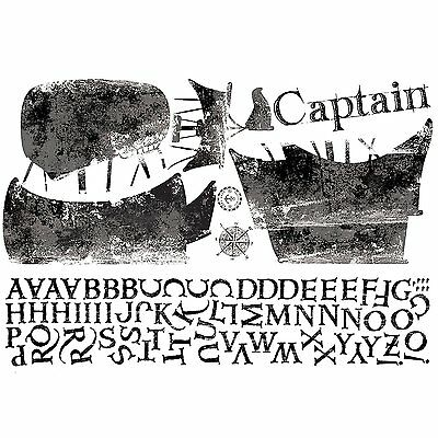 RoomMates RMK2321GM Personalized Captain Peel and Stick Giant Wall Decals