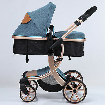 Fashion Baby Stroller Foldable Carriage Infant Travel Pram Baby 3 in 1 Pushchair
