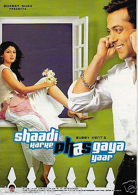 Shaadi Karke Phas Gaya Yaar Salman Khan, Shilpa Shetty  Press Book Bollywood