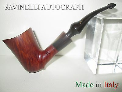Savinelli Autograph Made In Italy Beautiful Pipe Smoked