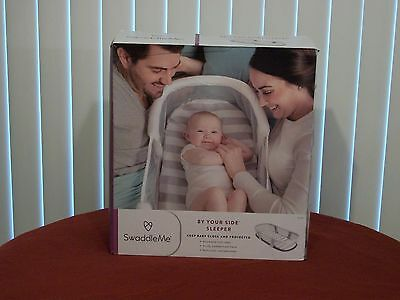Summer Infant SwaddleMe® By Your Side® Sleeper - Gray Stripe