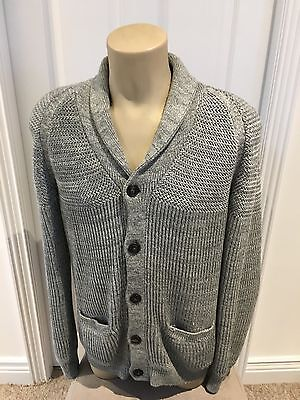 Men's H&M Grey Buttoned Cardigan Wooly Look Winter