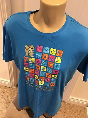 Men's Large London 2012 Olympics Adidas Venue Exclusive T Shirt Limited Edition
