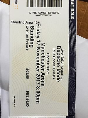 Depeche Mode standing tickets, Manchester November 17th. Have 4 available