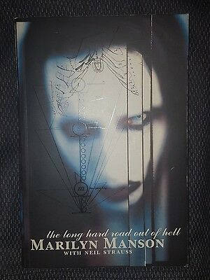 Marilyn Manson Autograph Biography The Long Hard Road Out Of Hell RARE