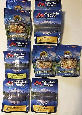 NEW Huge Lot Mountain House Grizzly Ridge Food Survival Hiking Camping