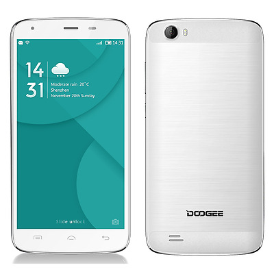 White 5.5'' DOOGEE T6 Pro 4G Smartphone Android 6.0 Octa Core 3GB+32GB Dual SIM