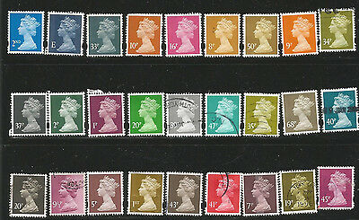 GB Collection of 27  Definitive Used Stamps