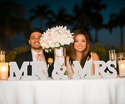 Wedding Reception Sign Solid Wooden Letters Mr/Mrs/LOVE Table Centrepiece Decor