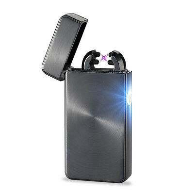 New Electronic Cigarette Ultra-thin Metal Arc Windproof Lighter Usb Pulse