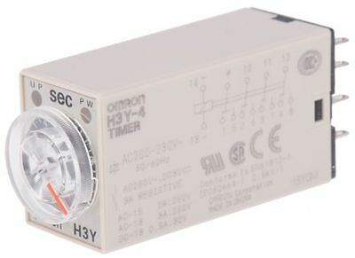 H3Y-4 AC200-230 10S  ON Delay Single Timer Relay, 0.5 - 10 s, 4 Contacts