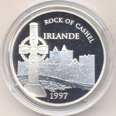 Frankreich Republik 100 Francs = 15 Euro 1997 Rock of Cashel in Irland Silber