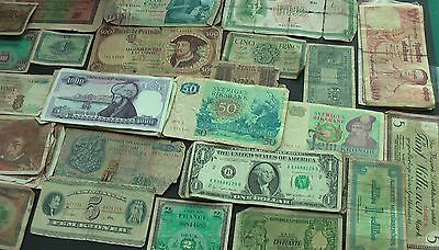 A Collection of 55 Assorted Banknotes