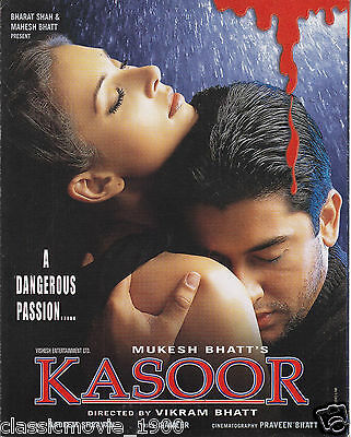 Kasoor : A Dangerous Passion  Press Book Bollywood Aftab Shivdasani Lisa Ray
