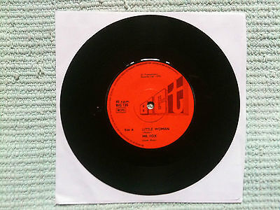 """Mr Fox - Little Woman c/w Join Us In Our Game  7""""UK 1970 VG to VG+ # Bob Pegg"""
