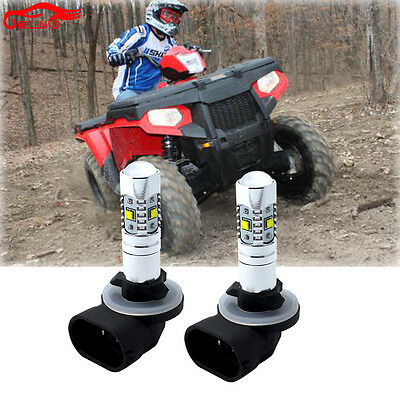 2010 2011 Polaris Sportsman 500 HO Touring Super White LED Headlights 30W Bulbs