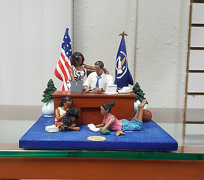 Annie Lee Art Oval Office President Obama FigurineAfrican American Art