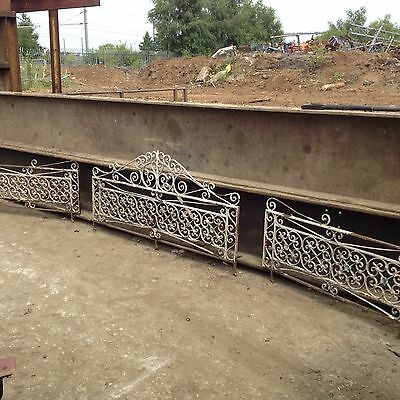 Reclaimed Very Old Wrought Iron Railings / Wall Toppers