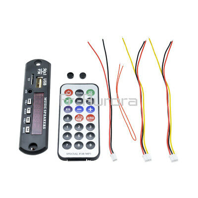 12V Car Wireless Bluetooth MP3 WMA Audio Decoder Board USB TF FM Radio Module