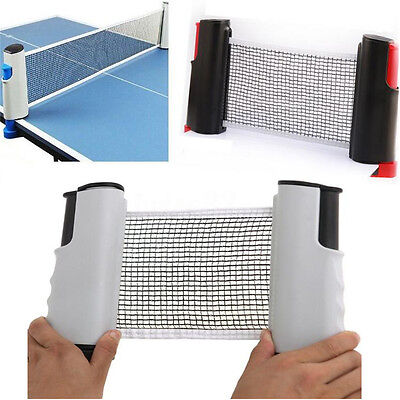 Games Retractable Table Tennis Ping Pong Portable Net Kit Replacement Set Indoor