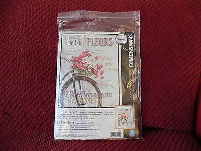 Dimensions counted cross stitch kit Parisian Bicycle 35195