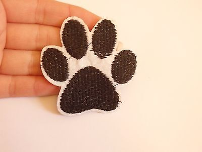 dog paw print patches patch embroidery applique iron on sew motif hot fix sewing
