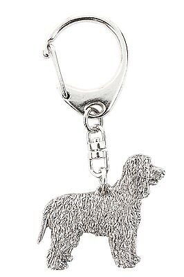 Irish Water Spaniel Made in U.K Artistic Style Dog Key Ring Collection