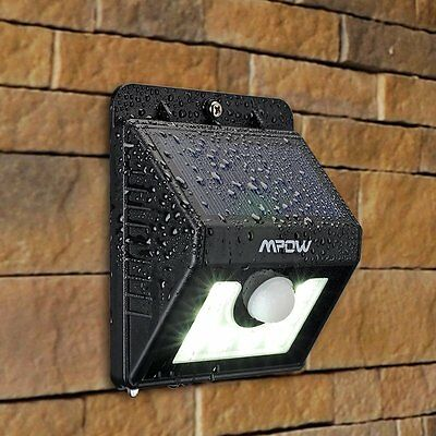 8 Led Solar Powered Pir Motion Sensor Security Spotlight Outdoor Garden Light Uk