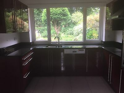 Used Kitchen units with Black Granite Work Top And Sink