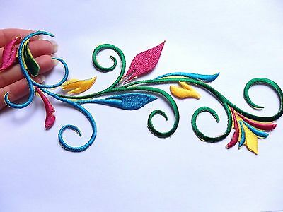 large patches patch flower embroidery applique trim element iron on sew motif