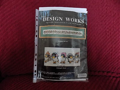Design works Counted cross stitch kit Penguins on Ice