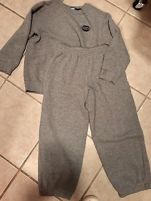 Youth Boys  2 Piece Jogging Set Sweat Suit Gray Size 7