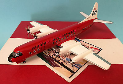 "Western Models Braniff International L-188A Electra ""Jellybean Red"" N9709C 1:200"