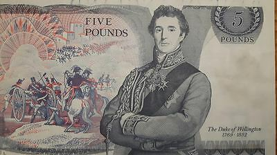 Rare Old £5 Note (Five Pounds) Bank of England - Duke of Wellington SA29 046114