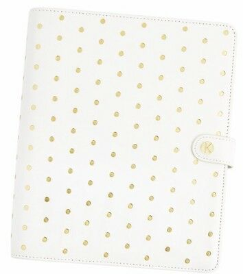 Kikki K White and Brushed Gold Planner New In Box