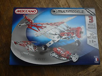 Meccano Multimodels Aeroplane - 3 Models Boxed Set With 130+ Parts - 3555