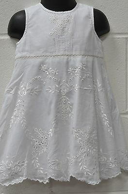 Baby Girls Pretty White Sleeveless Summer Dress UK Age 12-18 months from MONSOON