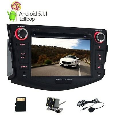 Quad Core Android 5.1.1 Car DVD Player For Toyota RAV4 2006-2012 GPS Navigation
