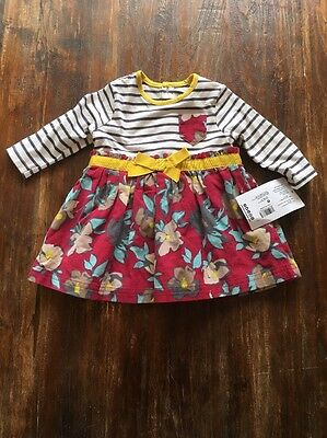 Baby Girls Mamas And Papas Dress Age 3-6 Months Brand New With Tags Bnwt