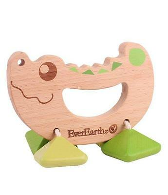 NEW EverEarth Wooden Rattle Teething Toy – Crocodile