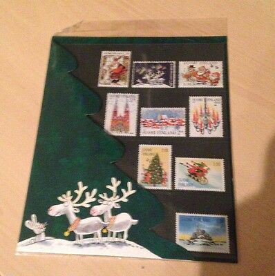Mint Set Xmas Stamps Finland