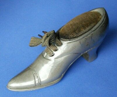 Antique, Vintage Pin Cushion, in the shape of a Victorian Shoe.