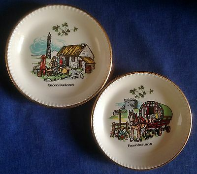 Carrigaline Pottery. Cork Ireland. Two dishes. Rural scenes.