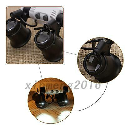 LED Magnifier Magnifying Glasses Eye Loupe Jeweler Watch Repair 10X/15X/20X/25X